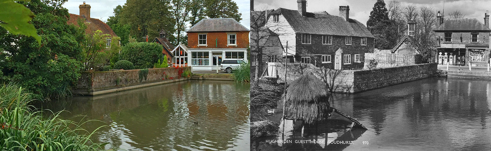 Goudhurst Pond, The Plain, Goudhurst, 50 years ago